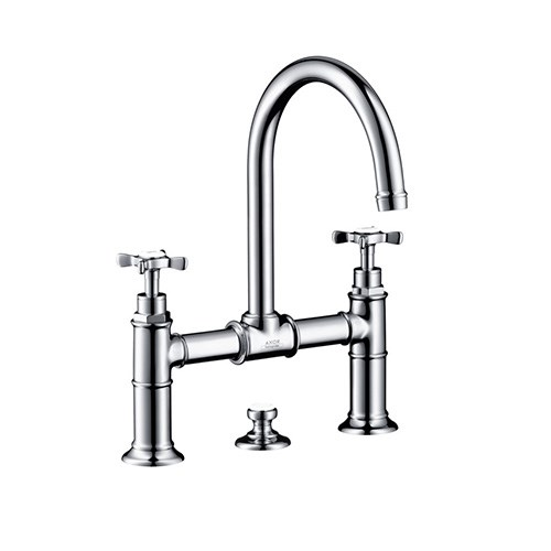 2-handle basin mixer 220 with pop-up waste set