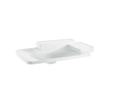 Built-in washbasin 86.6 x 53cm with 2 shelves