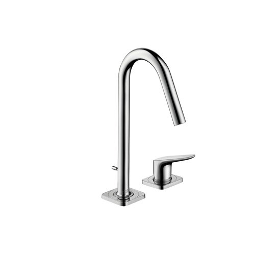 2-hole basin mixer 160 with pop-up waste set