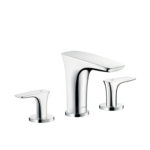 3-hole basin mixer 100 with push-open waste set