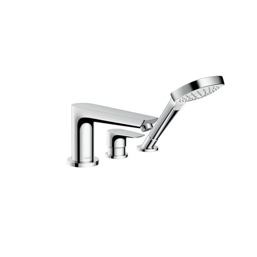 3-hole rim mounted bath mixer