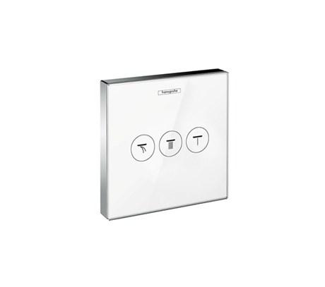 Valve for concealed installation for 3 outlets