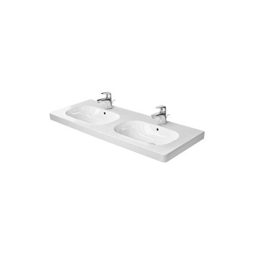 Double furniture washbasin 120*49cm