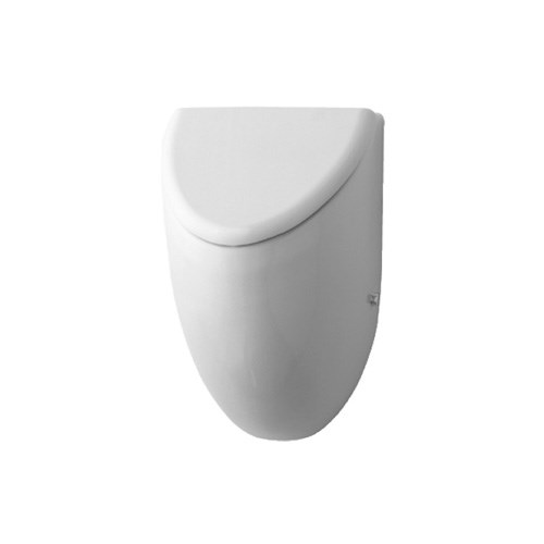 Urinal with concealed inlet