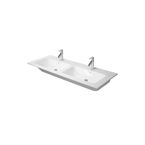 Double furniture washbasin 130*49cm