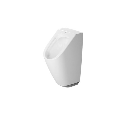 Electronic urinal for water supply, rimless, concealed inlet